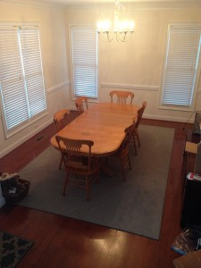 ugly oak refurb before diy chalk paint before dark walnut stain blonde oak unfinished table and chairs