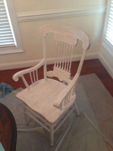 ugly oak refurb part chair first coat primer bulls eye water based multi-purpose primer and sealer