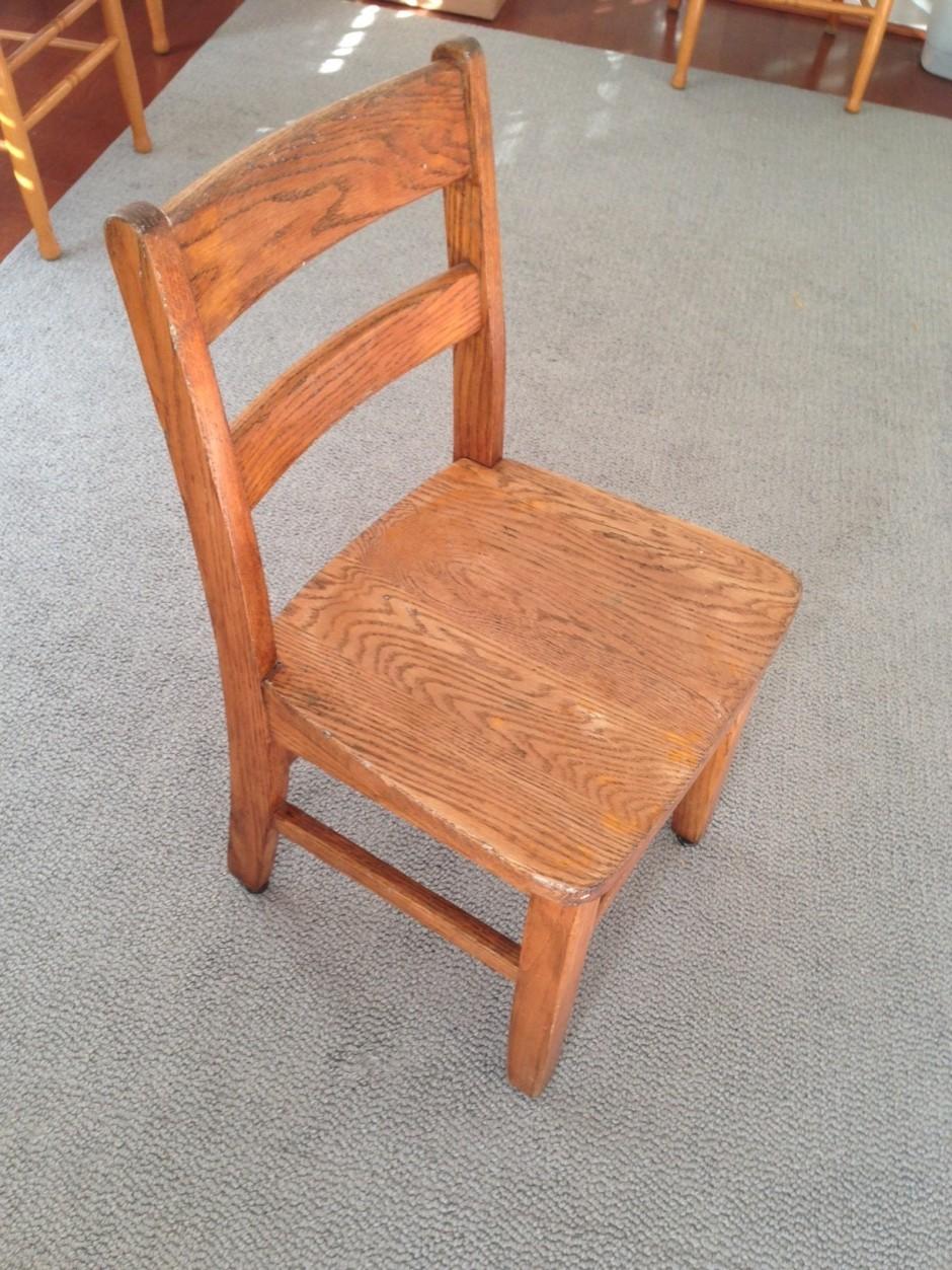 tiny white chair refurb original before paint diy chalk paint