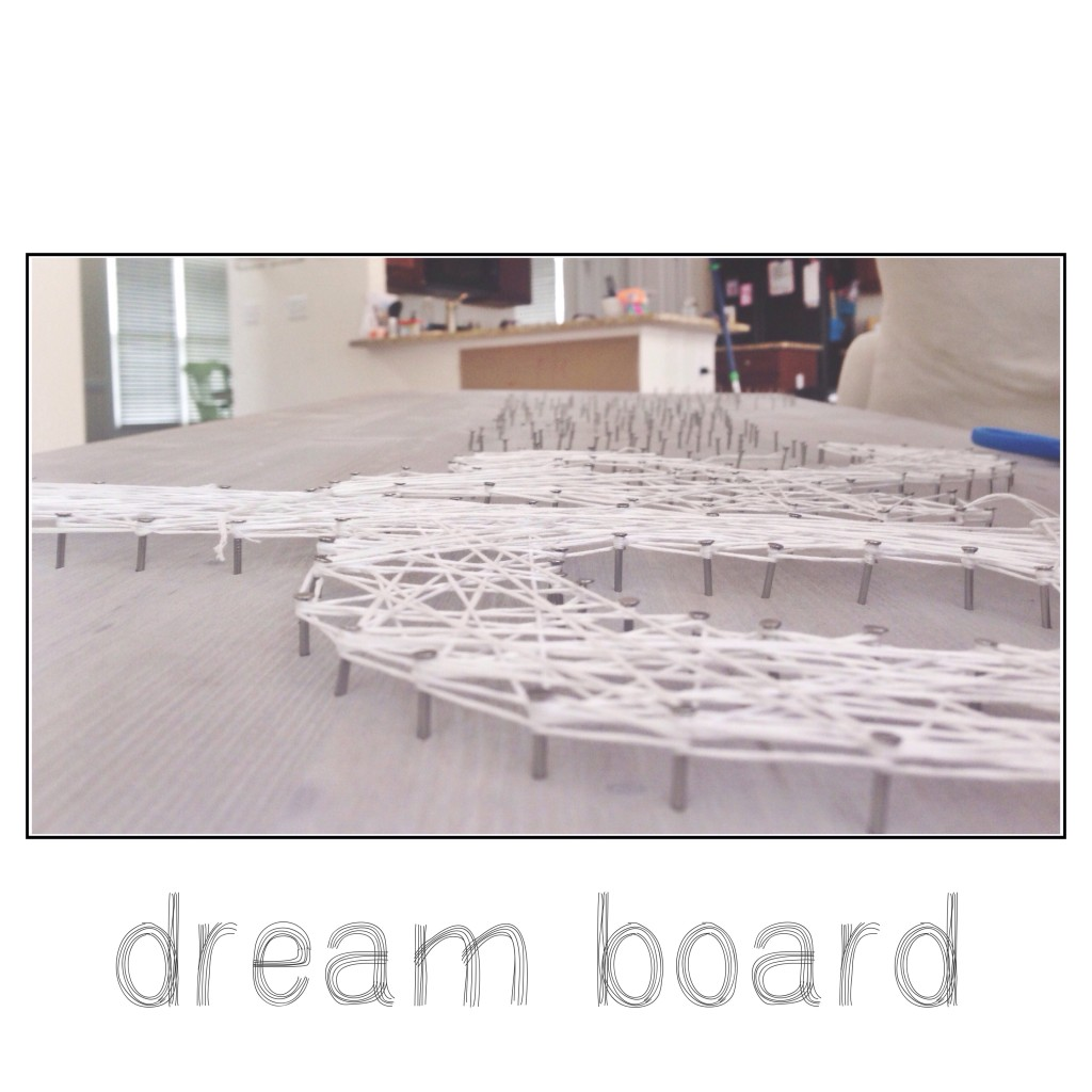 dream board diy wall art embroidery floss nails string detail work