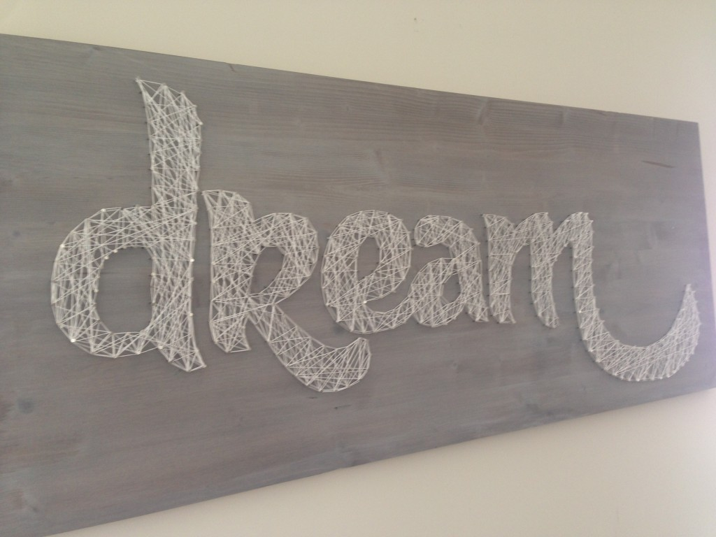 diy wall art dining room piece dream board made with template wood nails embroidery floss